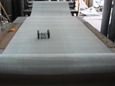 Wire mesh calendaring and flattening