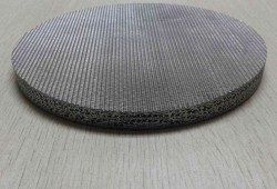 sintered filter disc for chemical plants