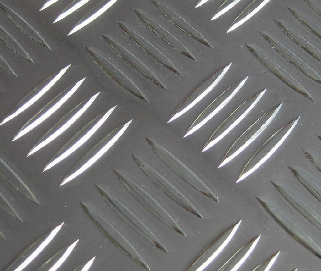 Embossed Sheet Metal for interiors and food processing