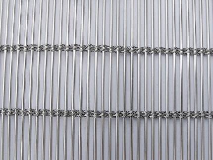 Flexible metal drapery Woven Wire Drapery 2