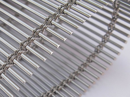Flexible metal drapery Woven Wire Drapery 3