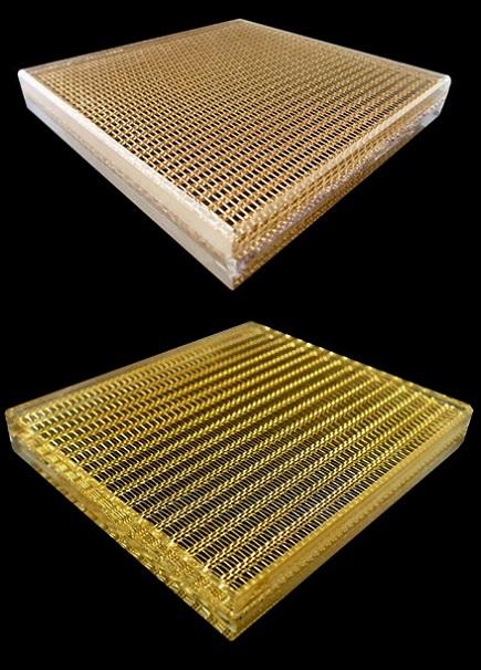 Mesh Laminated Glass, Inner-layer Metal Mesh 2