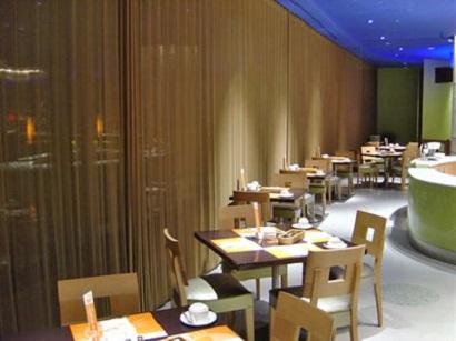 metal-coil-drapery-restaurant-architectural decoration